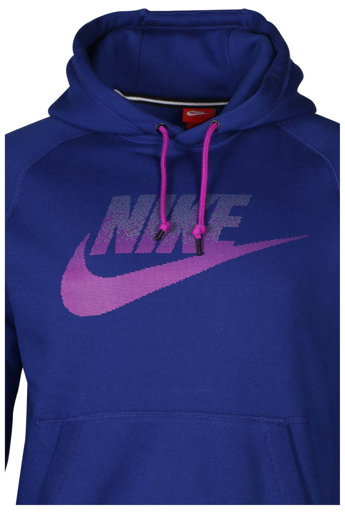 Nike Men's AW77 Futura Fleece Pullover Hoodie-Game Royal