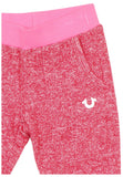 True Religion Little Girls' (2T-6X) Terry Crop Pants-Mustang Red/Pink