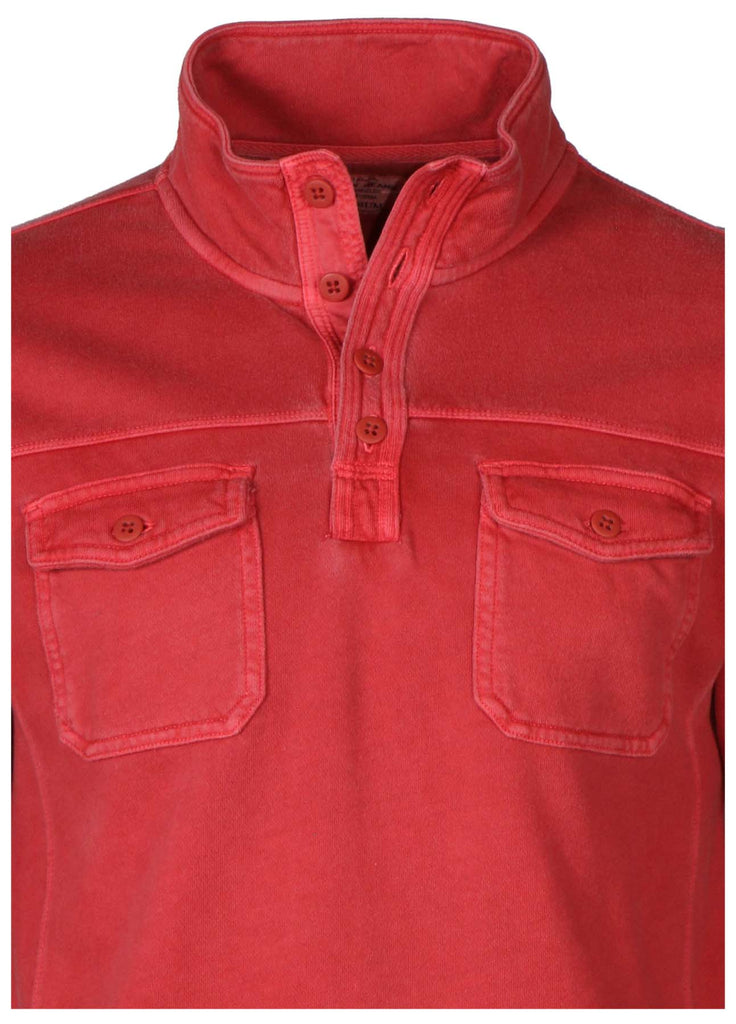 Lucky Brand Jeans Men's Button Mock Neck Shirt