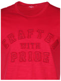 True Religion Men's Crafted With Pride Applique T-Shirt-Red