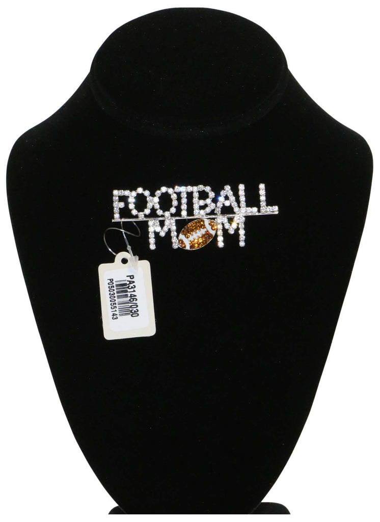 9 Crowns Essentials Ole Women's Rhinestone Football Mom PinOS
