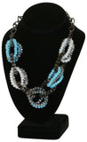 9 Crowns Essentials Ole Women's Beads & Chain-link 2-PC Short Neckalce-Gray/Blue-OS