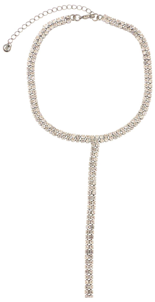 9 Crowns Essentials Ole Women's Rhinestone Tie Choker Necklace
