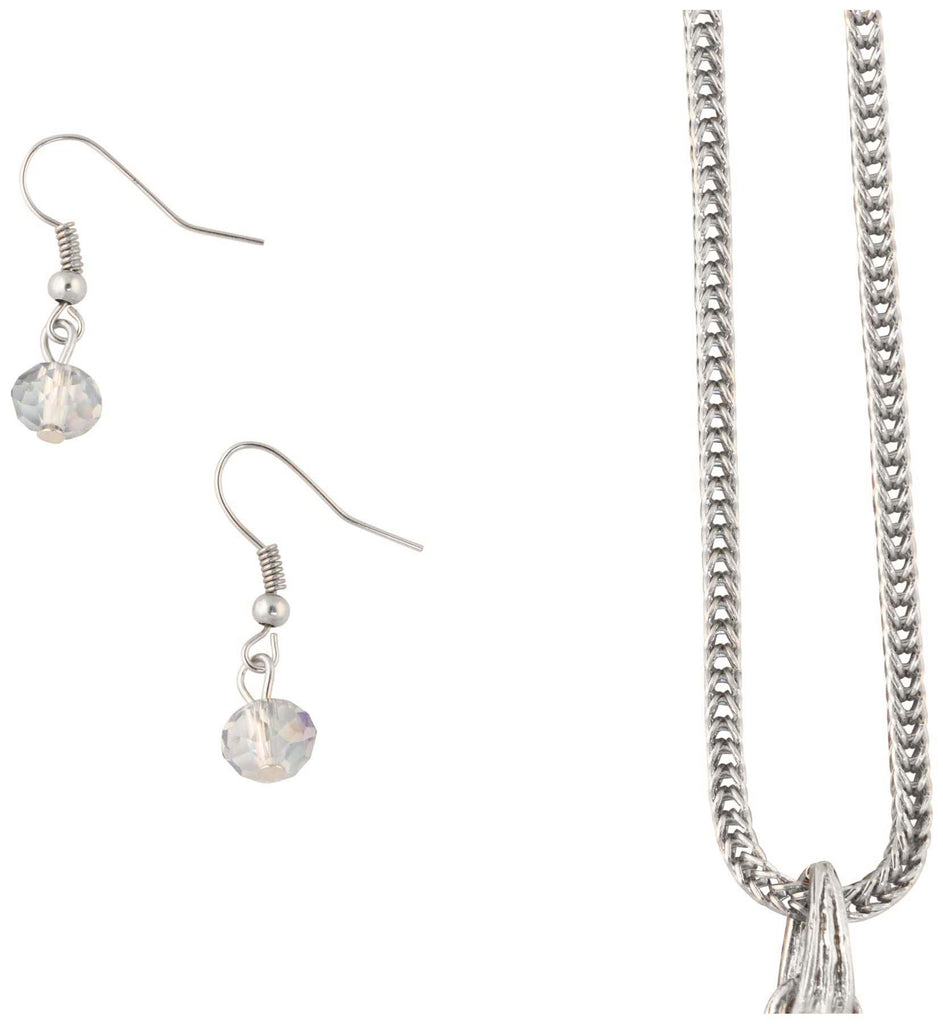9 Crowns Essentials Ole Womens Long Quartz Stone 2- PC Jewelry Set-Silver-OS
