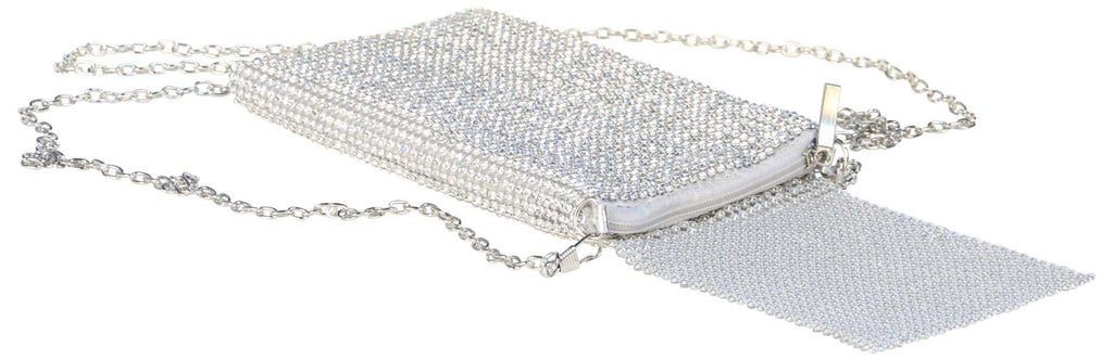 9 Crowns Essentials Ole Women's Bling Small Crossbody Purse-Sliver
