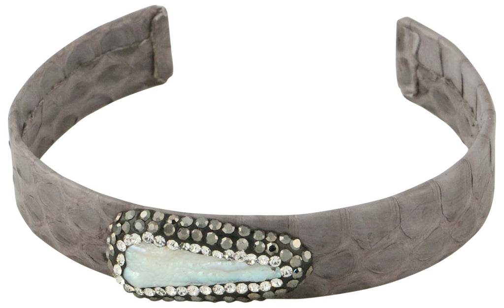 9 Crowns Essentials Ole Snakeskin Salt Water Mother of Pearl Cuff