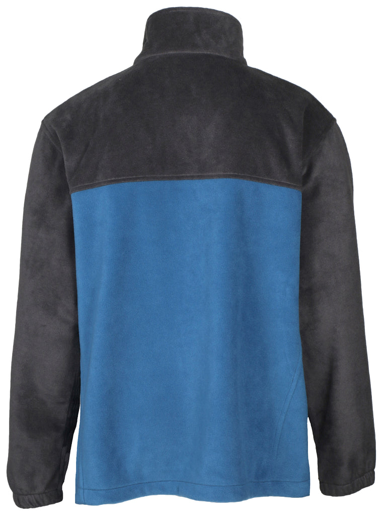 Columbia Men's Granite Mountain Extended Fleece Jacket-Gray/Blue