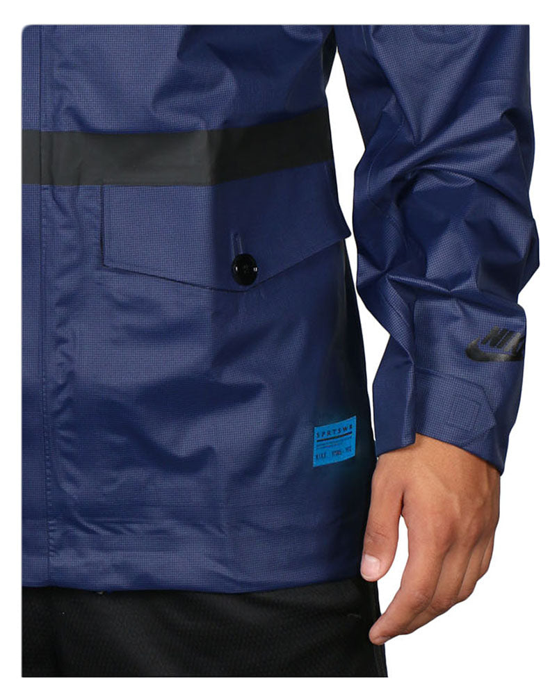 Nike Men's New Master Saturday Soccer Rain Jacket-Navy