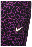 Nike Women's Epic Run Printed Cropped Running Tights-Purple