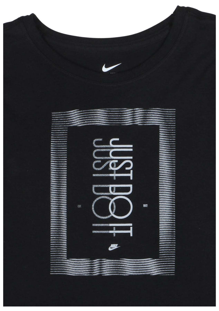 Nike Big Girls' (7-16) Frequency Just Do It T-Shirt-Black