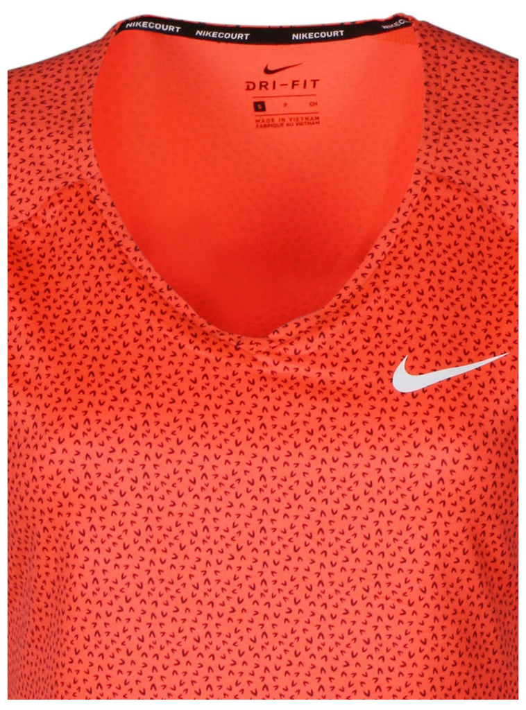 f93e2e3f8 Neon Coral  Nike Women s Dri-Fit Nike Court Pure Tennis Top-Neon Coral ...