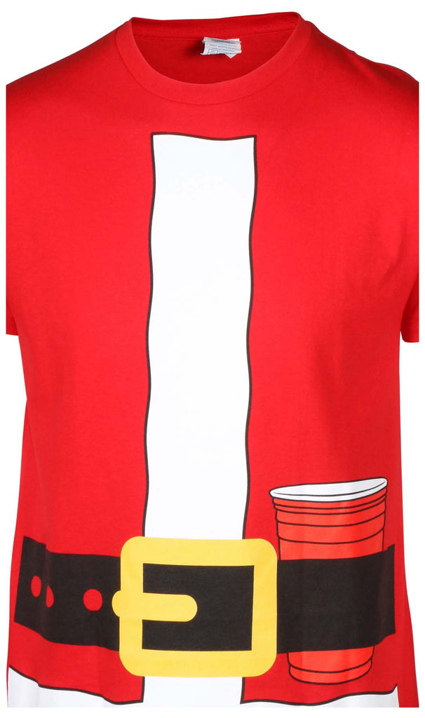 Men's Santa Claus Christmas Xmas Jacket T-Shirt-Red