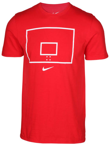 Nike Men's Hoop N Arrow Backboard T-Shirt-Univeristy Red