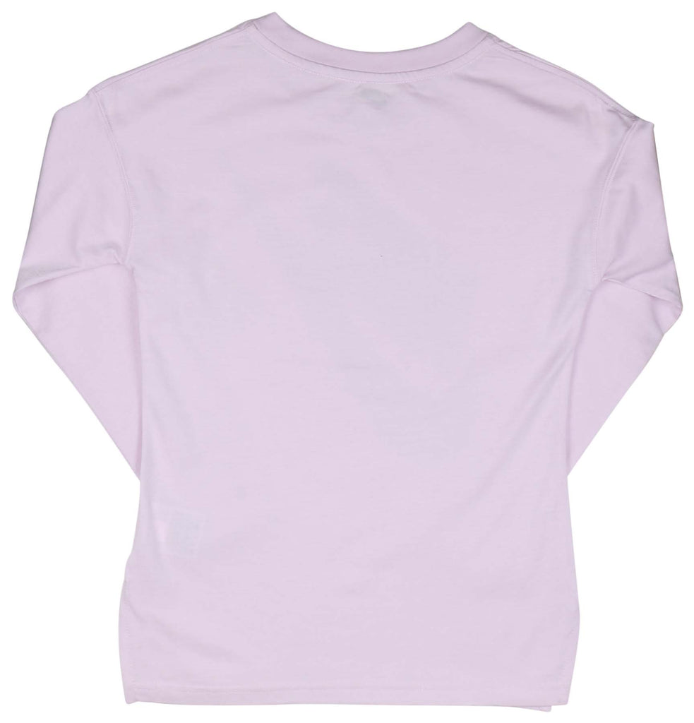 Nike Big Girls' (7-16) LS Signal Swoosh Casual Top-Lavender