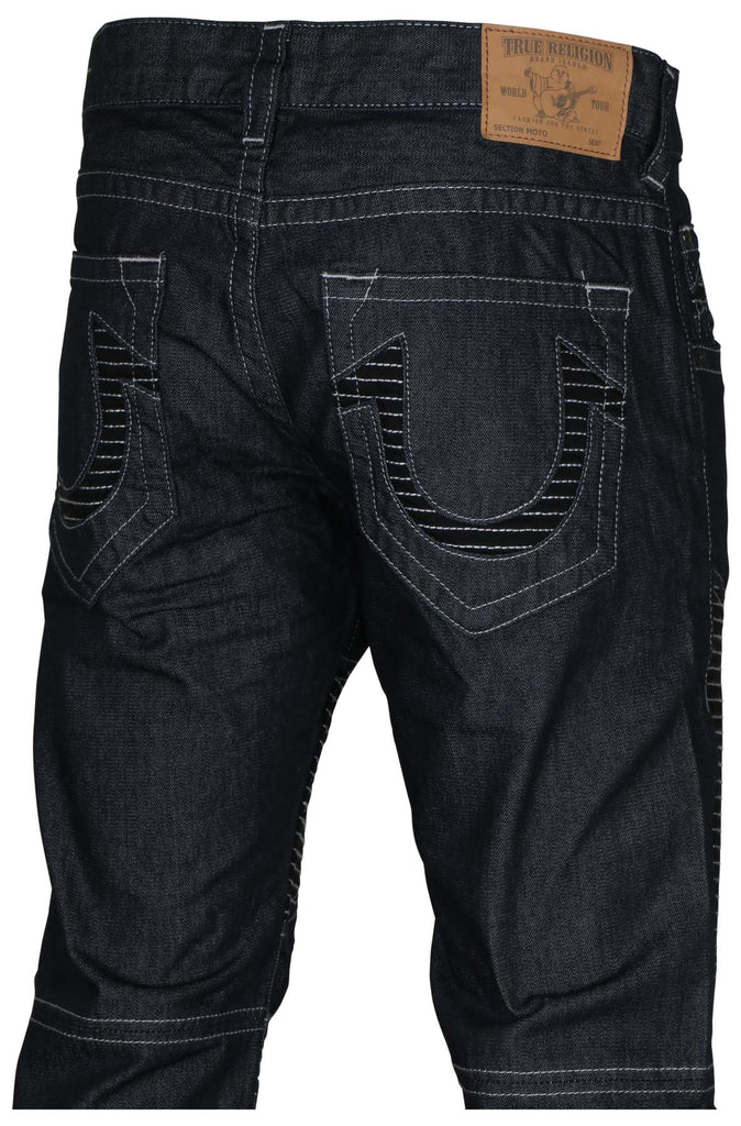 True Religion Men's Moto Slim Run Stitch Jeans