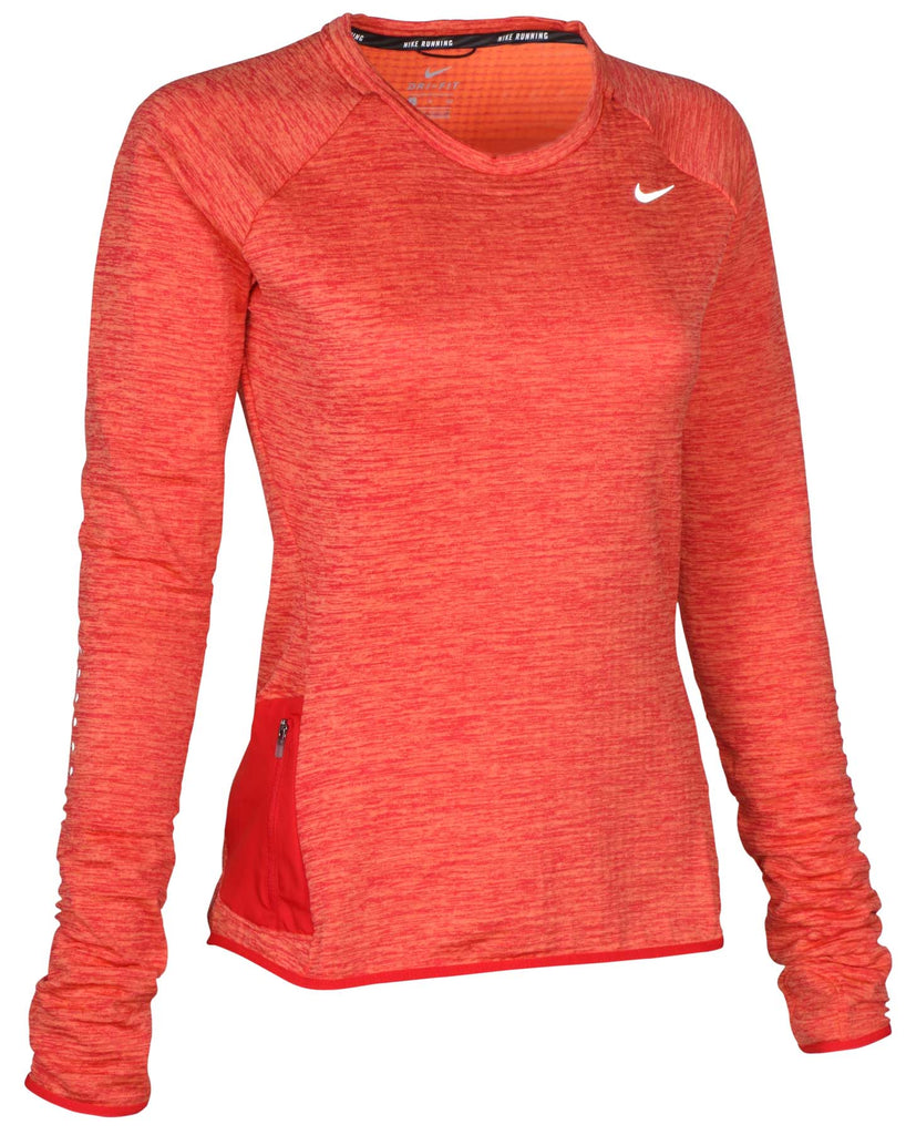 Nike Women's Dri-Fit Sphere Element Running Top-Brilliant Orange