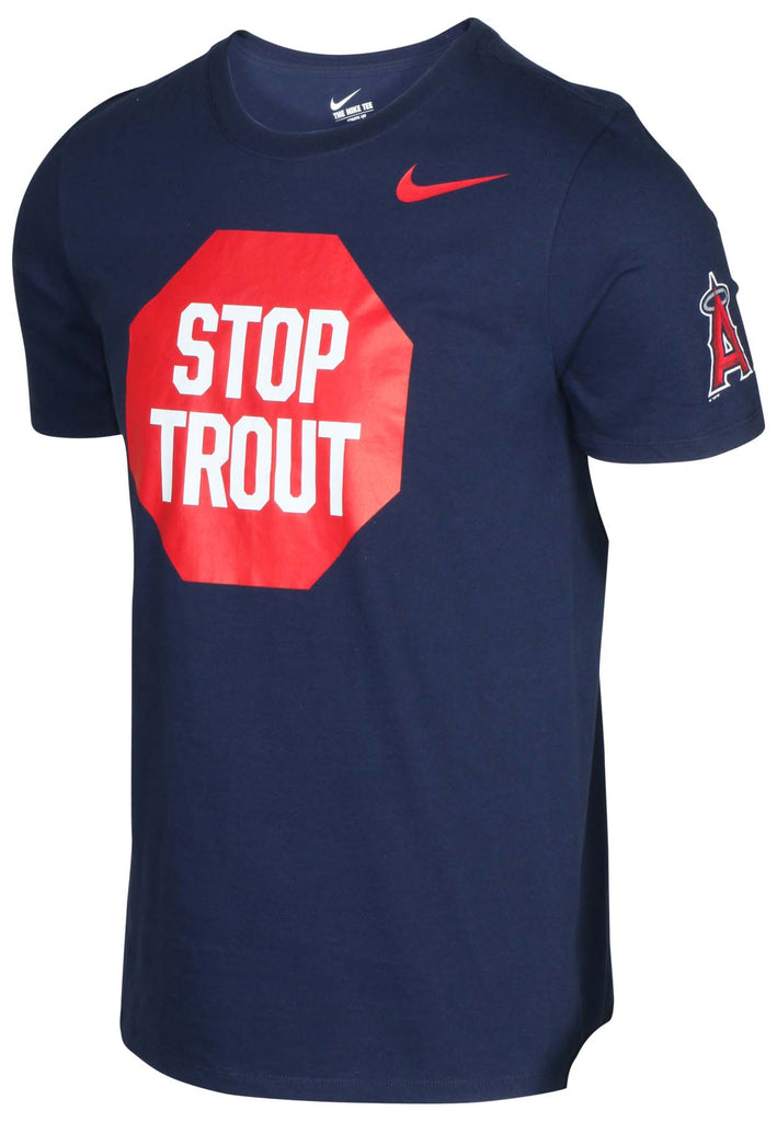 Nike Men's MLB Stop Trout Angels T-Shirt-Navy