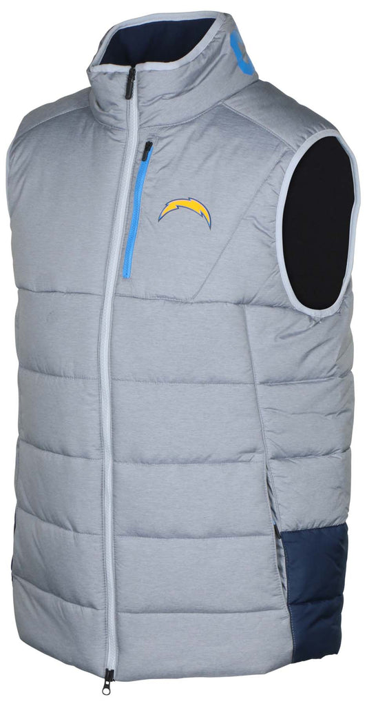 Nike Men's NFL On Field Chargers Repel Vest-Wolf Grey/Navy