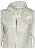 Nike Women's Gym Classic Full Zip Sport Casual Hoodie-Sail Heather
