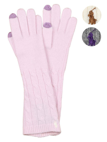 Polo Ralph Lauren Women's Touch Compatible Cable Gloves