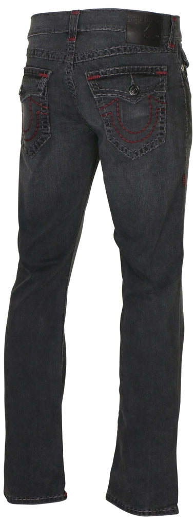 True Religion Men's Ricky Flap Super T Relaxed Straight Jeans