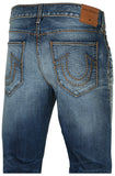 True Religion Men's Ricky No Flap Cable Stitch Relaxed Straight Jeans