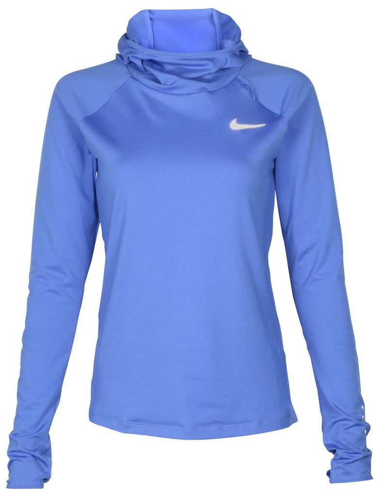 9e37b2f3fb1c ... Nike Women s Dri-Fit Element Running Hoodie-Light Cobalt. Light Cobalt  ...