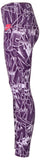 Nike Big Girls' (7-16) Allover Print Club Sport Casual Tights-Night Purple