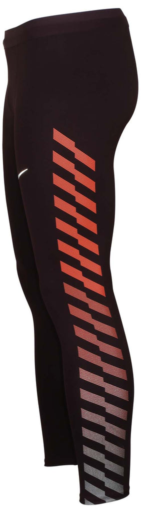 Nike Men's Dri-Fit Power Flash Tech Running Tights-Burgundy Crush