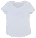 Nike Big Girls' (7-16) Futura Scoop Swoosh T-Shirt-White
