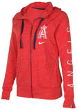 Nike Women's MLB Los Angeles Angels Lightweight Hoodie-Red Heather