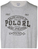 Polo Ralph Lauren Men's Athletics Graphic T-Shirt-Heather Grey