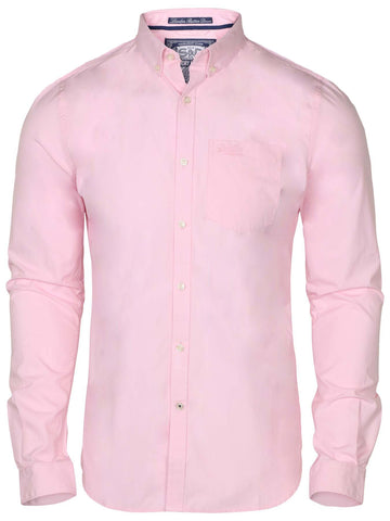 Superdry Men's London Button Down Shirt-Pink