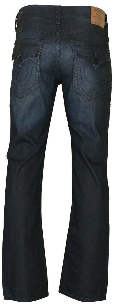 True Religion Men's Straight Flap Big T Straight Jeans