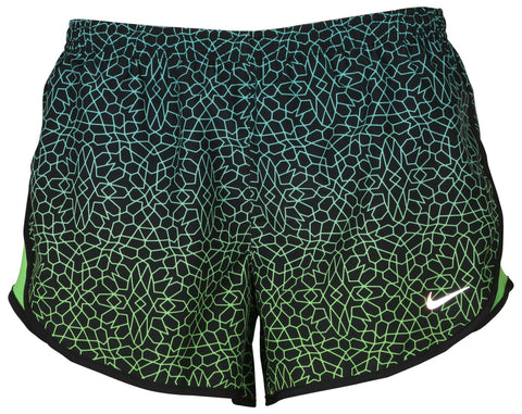 Nike Women's Dri-Fit Starglass Modern Tempo Running Shorts-Black/Lime Green