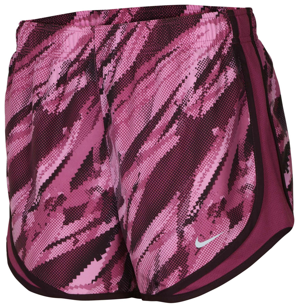 Nike Women's Dri-Fit Printed Tempo Running Shorts-Mulberry