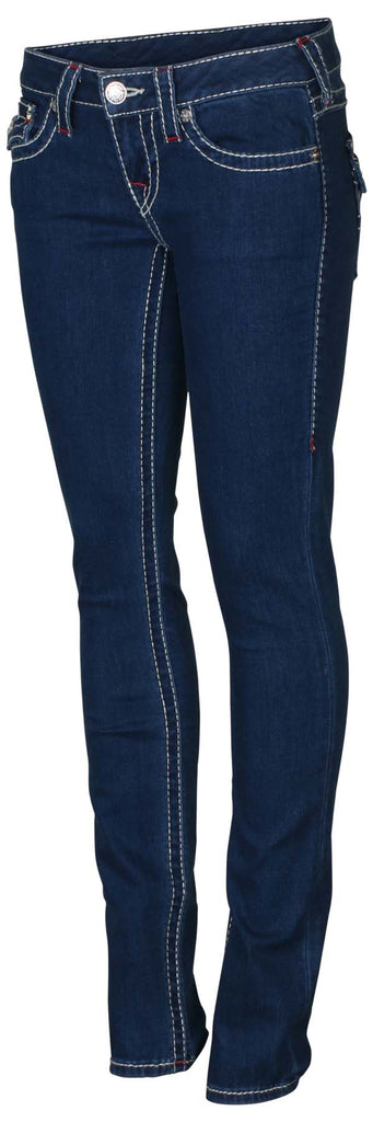 True Religion Women's Skinny Flap Natural Big T Jeans