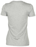 Converse Women's Core Patch Neutral Tri-Color T-Shirt-Heather Grey
