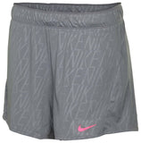 Nike Women's Dri-Fit Embossed Attack Training Shorts-Cool Grey/Pink