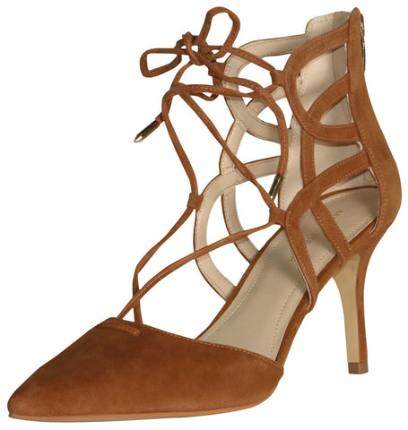 Marc Fisher Women's Truthe Heel With Straps-Medium Brown