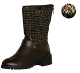 Logo by Lori Goldstein Women's Novelty Moto Boots