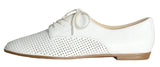Isaac Mizrahi Live! Women's Frill Perforated Leather Oxford Shoes-White