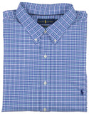 Polo Ralph Lauren Men's Big & Tall Performance Button Down Shirt-Blue/Pink