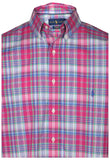 Polo Ralph Lauren Men's Big & Tall Stretch Button Down Shirt-Pink