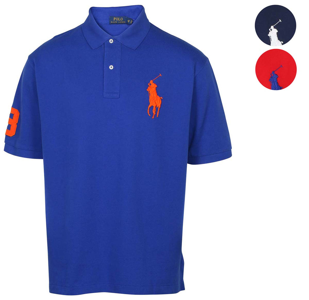 Polo Ralph Lauren Men's Big & Tall Mesh Big Pony Shirt