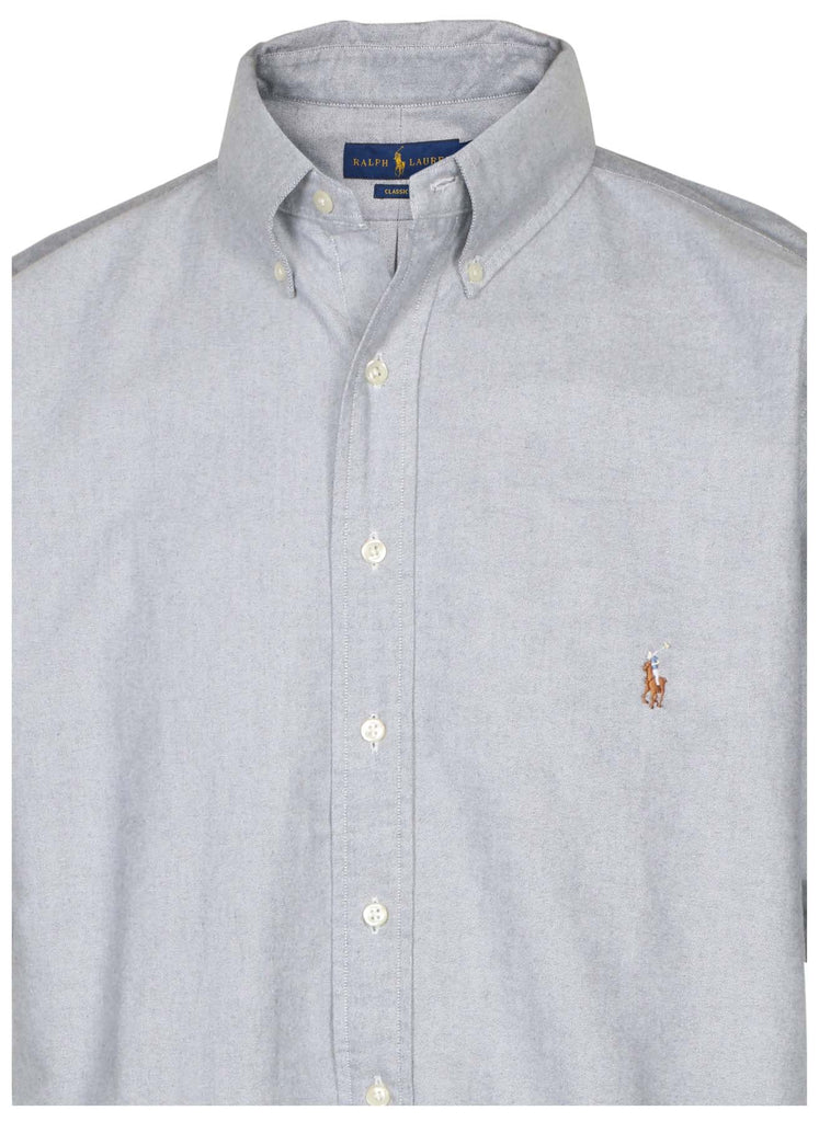 Polo Ralph Lauren Men's Big & Tall Classic Fit Button Down Shirt-Slate