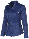 G.I.L.I. Women's Belted Nylon Jacket with Pockets-Deep Twilight