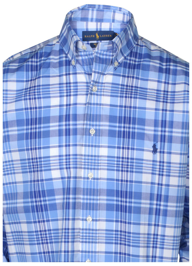 Polo Ralph Lauren Men's Big & Tall Stretch Button Down Pony Shirt-Blue
