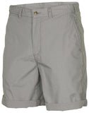 Polo RL Men's Flat Front Chino Cuffed Pony Shorts-Grey