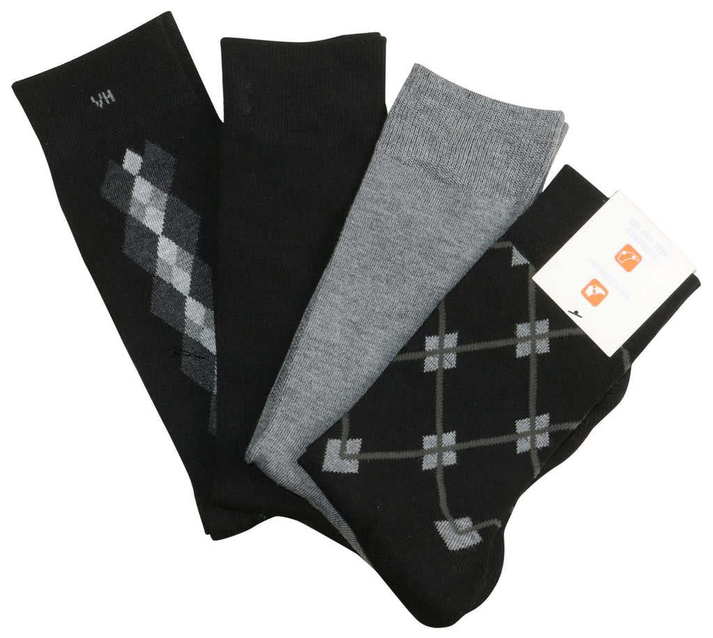 Van Heusen Men's Traveler Performance 4 Pk Dress Socks